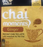 Tea India Chai Moment Ginger Tea Mix 10Pcs
