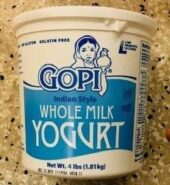 Gopi Whole Milk Yogurt 4 Lbs