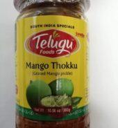 Telugu Mango Thokku Pickle With Garlic 300 Gm