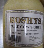 Koshy Ghee 16oz