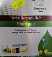 Biogreen Herbal Burgundy Hair Color Shampoo(5 Sachets)