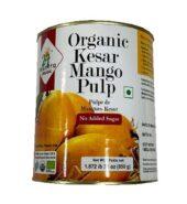 24Mantra Organic Kesar Mango Pulp Cans 850Gm